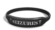 Seizure Medical Alert Rectangle Marquee Band
