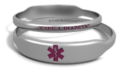 Medical Alert Rectangle Marquee Band
