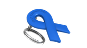 Blue Ribbon Keychain
