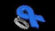 Blue Ribbon Keychain