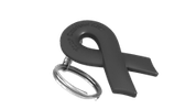 Black Ribbon Keychain