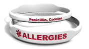 Allergy Medical Alert Rectangle Marquee