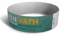 "3/4"" Event Wristbands"