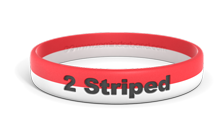 2 Striped Wristbands with Colorfill