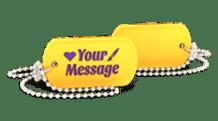 Custom Silicone Dog Tag Necklace