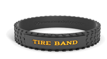 Debossed Tire Wristband with Colorfill