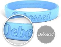 Debossed Wristbands