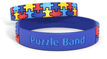 Puzzle Wristband with colorfill
